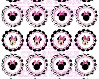 Minnie Mouse Cup Cake toppers