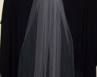 Fingertip length, single layer, cut edge veil for your special day!