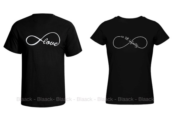 Couple T Shirt Infinity Love 2 Couple Tees Matching Love