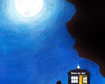 Tardis Doctor Who Acrylic Painting Print