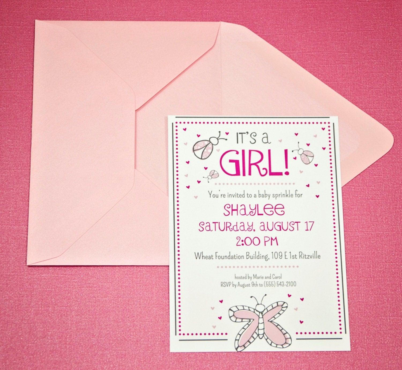 baby shower invitations event paper goods custom design