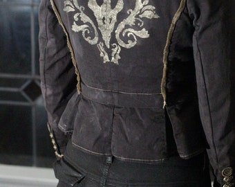 SALE 25% OFF Filigree Fallout ~ Distressed Steampunk Post Apocalyptic Victorian Jacket