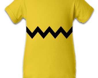 Charlie Brown inspired Character Onesie Infant Baby Newborn Onesie Creeper Crawler One Piece Bodysuit 100% combed ringspun cotton