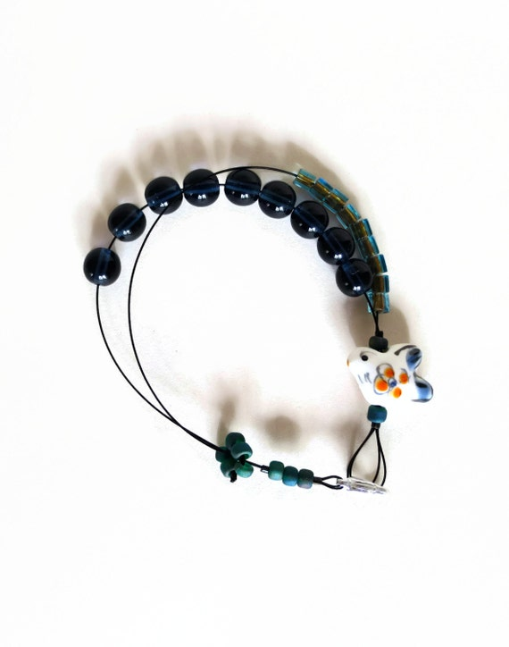 Knitting Row Counter Bracelet : Folk bird knitting row counter bracelet abacus