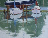 Two of a Kind - 12 x 9 Inch Original Oil Painting of Sailboats on the Water - Boat Painting - Sailboat Painting - Wall Decor