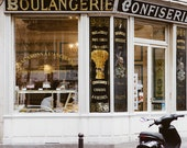 "Paris Bakery Kitchen Art, Kitchen Decor, White Wall Art, Paris Photography, Kitchen Wall Decor, Montmartre Boulangerie ""Daily Bread"""
