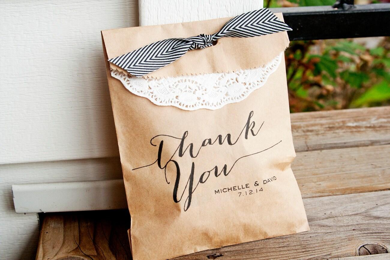 Wedding Favor Bag Candy Favor Bags Calligraphy Thank By Mavora