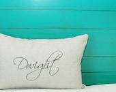 Monogrammed Linen Pillow Cover 12x16 inch