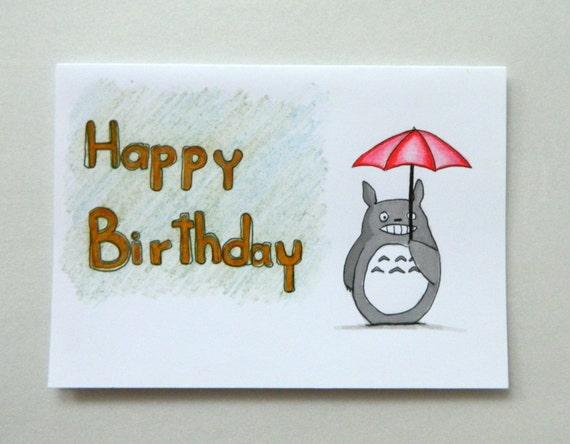 Snap Totoro Card Pop Up Card Totoro Birthday Card Photos On Pinterest