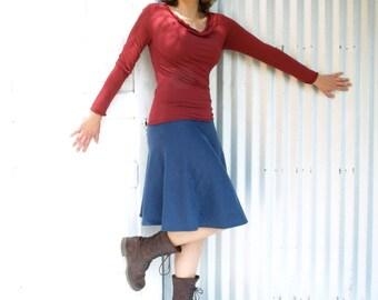 Kiana Skirt ~ Hemp & Organic Fleece ~ Made to Order