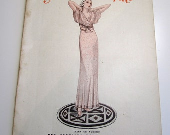 Vintage French Magazine Mode Pratique August, 1933 Fashion Sewing and Knitting Featuring Blouses