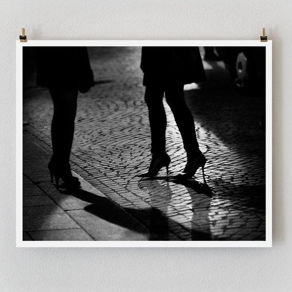 """Paris Print, Black and White Photography, """"Paris Noir 7"""" Extra Large Wall Art, Fine Art Print Paris Photography,  Film Noir"""