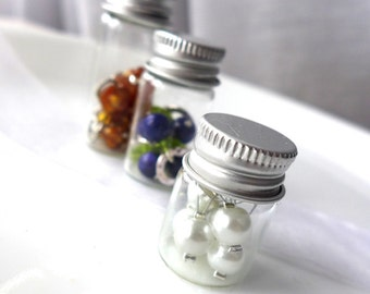 Glass Vial with Screw Top Lid - Stitch Markers Holder - Markers In a Bottle - Seven Sizes Available