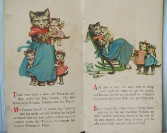 1921 What Happened to Tommy Kitten Frances Brundage Childrens Book