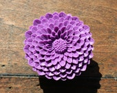 Flower Drawer knobs - Cabinet Knobs Mum in Vivid Purple LARGE, more COLORS (RFK12)