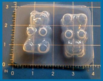 SALE 2 Large Size Gummy Bears  Plastic Handmade Resin Mold