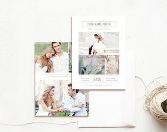 INSTANT DOWNLOAD! Photography Flyer Design - Mini Session Template - Photoshop Template - Marketing Templates for Photographers
