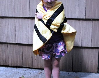 Handmade Child Cape Bumble Bee Costume Kids Halloween Photo Prop Red Child Children Toddler Kids