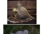 Primitive Mama Dove Bird Doll Pattern - Folk Art Dove Bird and Clay Eggs Pattern. Instant Download Primitive Folk Art E-Patterns