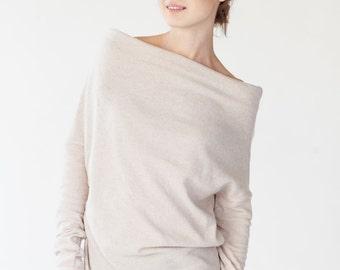 Chic sweater | Elegant sweater | Minimalist sweater | LeMuse chic cream sweater