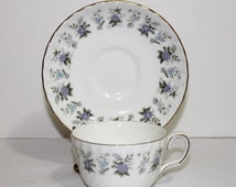 Minton China Alpine Spring Tea Cup and Saucer - Item 1435-1