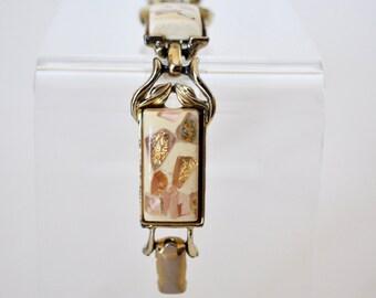 Vintage Coro Confetti Lucite Bracelet