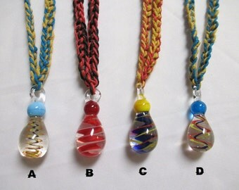 Hemp necklace glass pendant etsy jumbo swirl glass pendant hemp necklace 1 you choose color mozeypictures