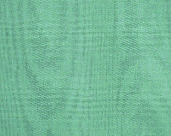 Pale Green Moire Print, Quilting Cotton Fabric, half yard, B30