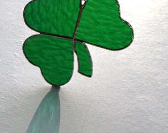 Stained Glass Irish Shamrock Suncatcher St. Patricks Day Ornament Window Decor Made in Ireland Celtic Gift