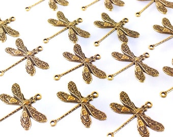 Brass Dragonfly Charms