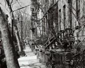 New York City Print - West Village Photo - Black and White Photography - Urban Decor Street Photography City Wall Art Manhattan NYC