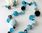 Pretty in blue - necklace and earrings