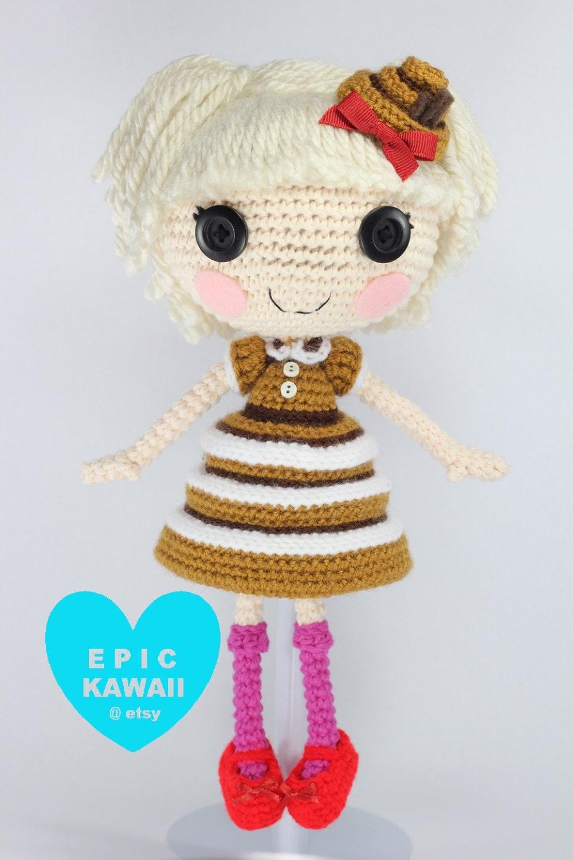 Sock Monkey Amigurumi Pattern : PATTERN: Bun Crochet Amigurumi Doll by epickawaii on Etsy