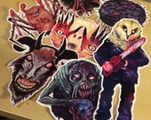 FEATURE CREATURES Series 4 - Cult Horror Sticker 7-Pack