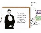 Ruth Bader Ginsburg Card - Happy Birthday