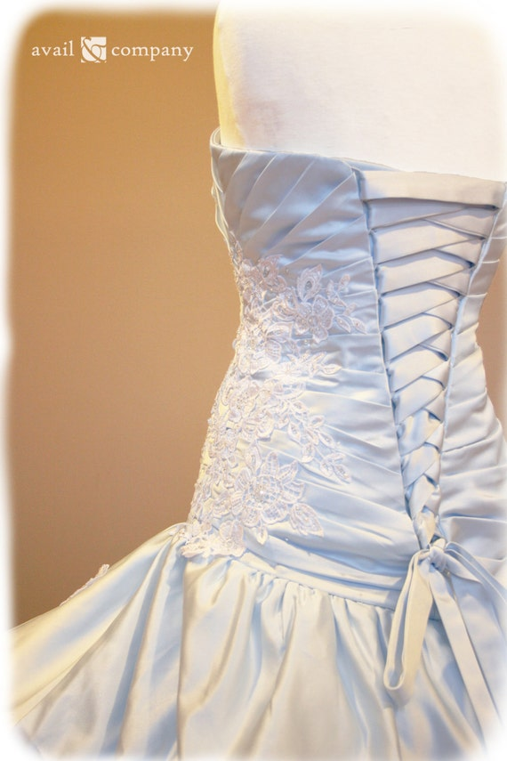 Cinderella Pale Blue Wedding Dress, Custom Made to Order in your size, Angela Style