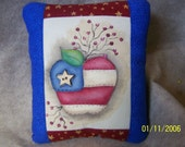 Small Hand painted Patriotic Pride Decorative  Pillow