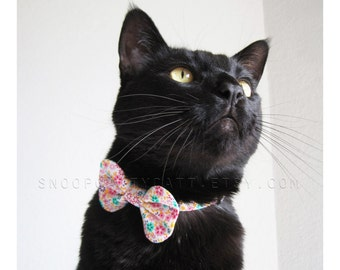 Girl Cat Bow Tie - Spring Has Sprung