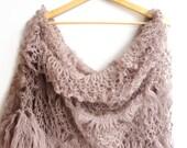mink Lace Shawl /Crochet Shawl /Luxurious Shawl /Wrap Shawl / Crochet Scarf / Shawl Wrap / Gifts For Her / Gifts For Women ///senoAccessory