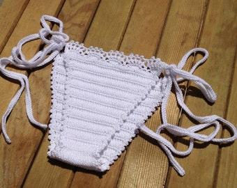 white Crochet Bikini Bottom Brazilian Bikini Swimwear Swimsuit 2016 Beach Wear Bathingsuit New Bikini Sexy Bikini senoaccessory