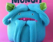 Munch - PDF pattern for a softie with a pocket mouth (monster, digital pattern)