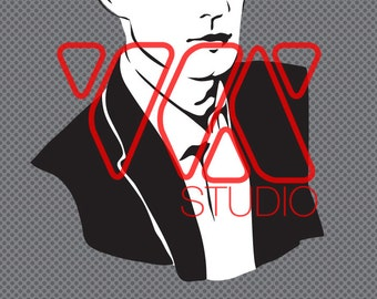 Pin the Tie on Mr. Christian Grey - Party Game for Fifty Shades of Grey Gray Theme
