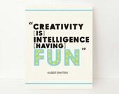 Creativity Quote - Inspirational Art Print - Inspirational Quote Print - Inspirational Typography - Home Office Art - Office Wall Decor