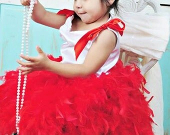 Red feather tutu - Perfect for Valentine's Day