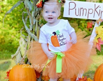 Cutest Pumpkin in the Patch Fall Thanksgiving Tutu Outfit-Pumpkin Patch Birthday Outfit-Fall Pumpkin Pageant Outfit *Bow NOT Included*