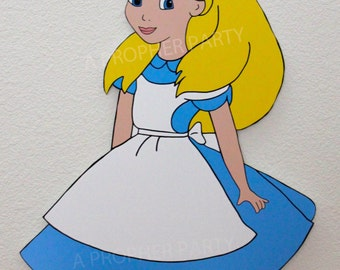 Alice in Wonderland - Alice in Wonderland Party Decor - Wonderland Prop - Wonderland Birthday - Yard Display - Character cut out