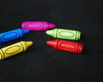 Teacher Earrings -- Crayon Studs, Teacher's Crayon Earrings, You choose the color!