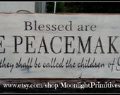 Blessed Are The Peacemakers,  Matthew 5:9, Police Officer Gift, Police Officer, Law Enforcement, Wooden Signs