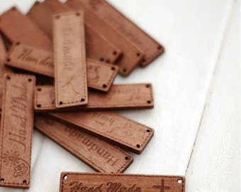 4 pieces (1set)- Wooden label Handmade Letters Charms in Antique-style for your crafts purse bag making (T78)