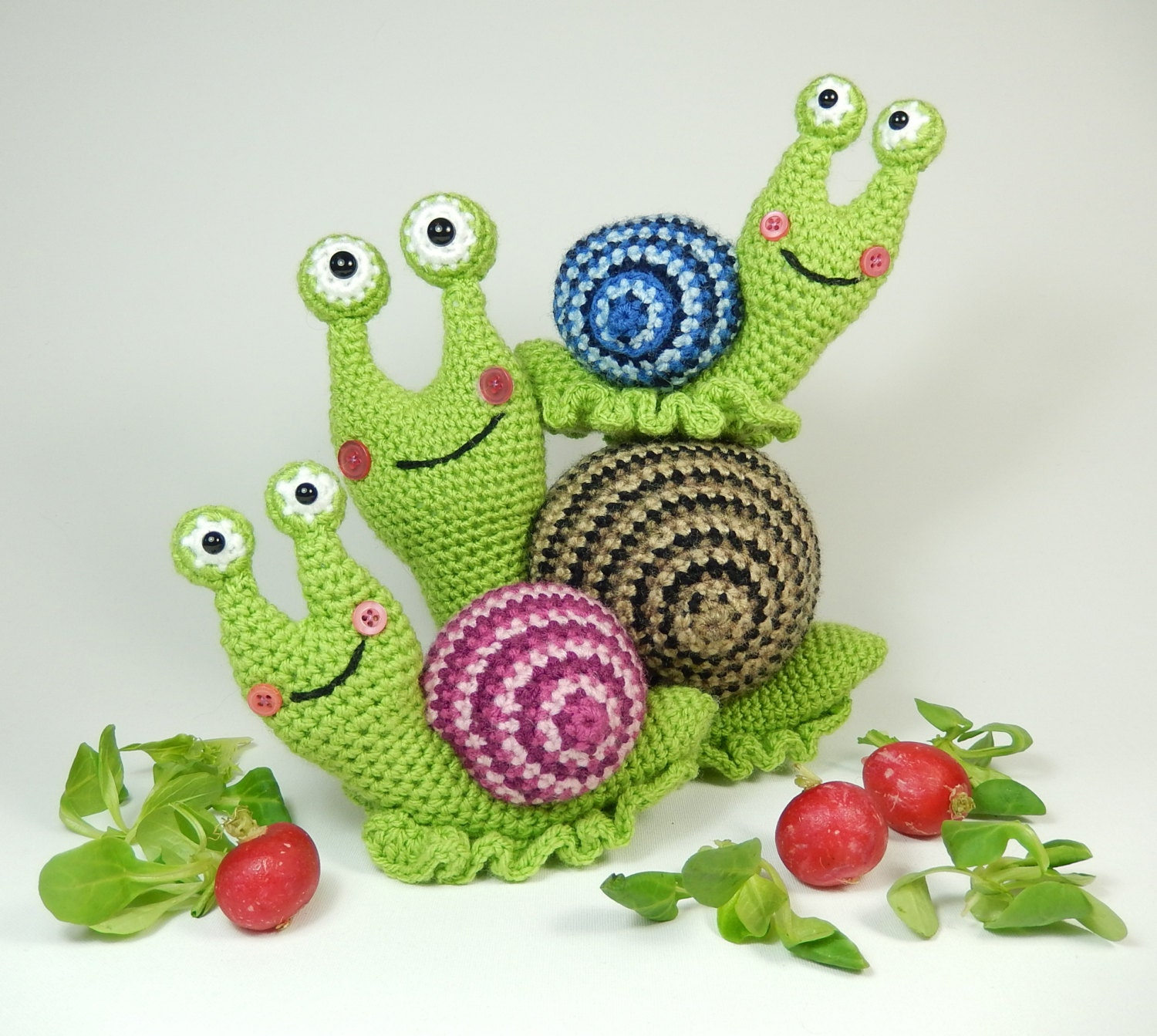 Newborn Snail Crochet Pattern Free : Shelley the Snail and Family Amigurumi Crochet by ...